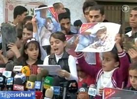 Propaganda lässt sich immer noch am besten mit Kindern machen, das weiß auch und nicht zuletzt die Hamas. Zu sehen in der »Tagesschau« vom 18. November 2012.