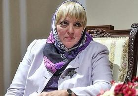 Claudia Roth während ihrer Iranreise, Januar 2015