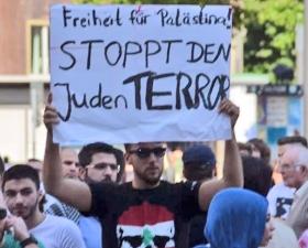 Kein Antisemitismus, nur Israelkritik. Essen, 18. Juli 2014.
