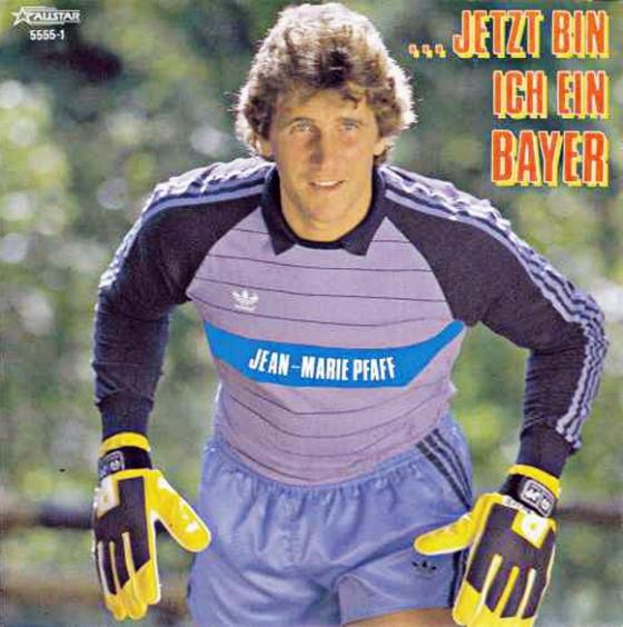 Das Cover der von Jean-Marie Pfaff aufgenommenen Platte »... jetzt bin ich ein Bayer«