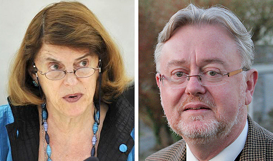 Mary McGowan Davis (links) und William Schabas