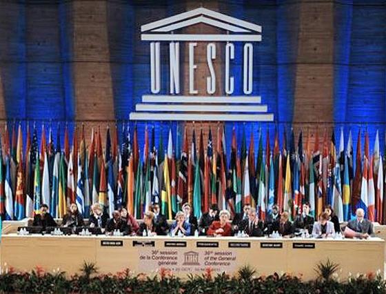 Die Generalkonferenz der Unesco nimmt Palästina als Mitglied auf. Paris, 31. Oktober 2011.