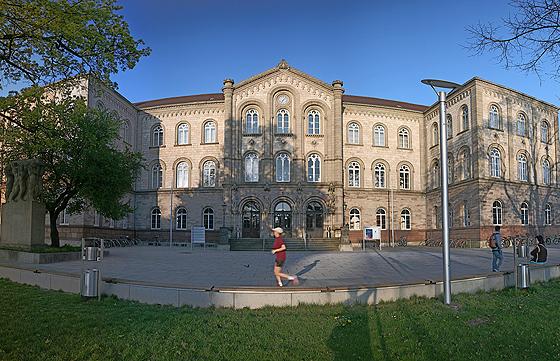 Universität Göttingen, altes Auditorium Maximum (© Daniel Schwen, Foto lizenziert unter CC-BY-SA 2.5 über Wikimedia Commons)