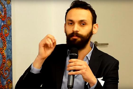 Luis Hernández Aguilar spricht auf einer »Islamophobie-Konferenz«des IHRC, 10. Dezember 2017 (YouTube-Screenshot)