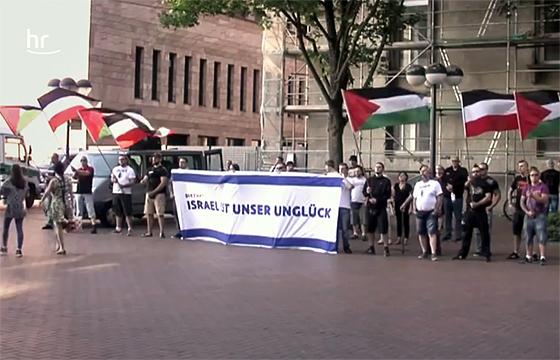 Antisemitische Demonstration von Neonazis in Dortmund (Screenshot aus dem Antisemitismus-Report)