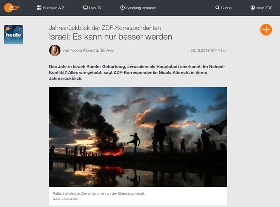 Screenshot von der Website des ZDF